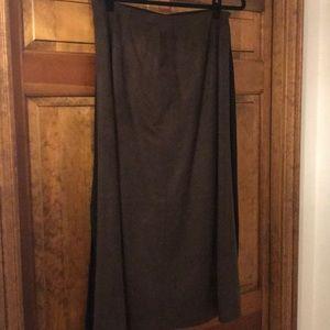 Talbots, brown, mid-calf skirt